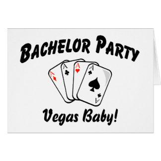 Despedida de soltero de Vegas Tarjeta De Felicitación