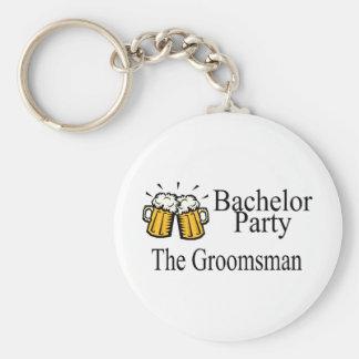 Despedida de soltero el padrino de boda llaveros personalizados