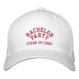 Despedida de soltero, equipo de limpieza, el mejor gorra de beisbol bordada