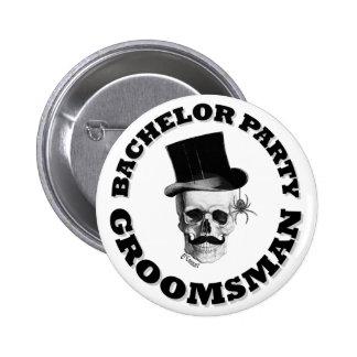 Despedida de soltero gótica del steampunk pin redondo de 2 pulgadas