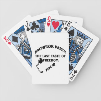 Despedida de soltero - gusto pasado del viaje de l baraja cartas de poker