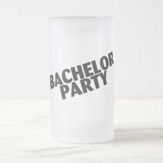 Despedida de soltero que casa negro taza de cristal