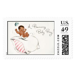 Despedir al bebé (afroamericano) por Loralee Lewis Timbre Postal