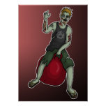 Despedir al zombi 3, impresión poster