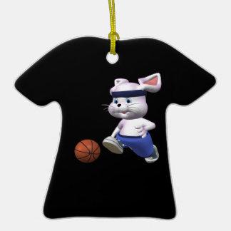 Despedir el conejito adorno de cerámica en forma de camiseta