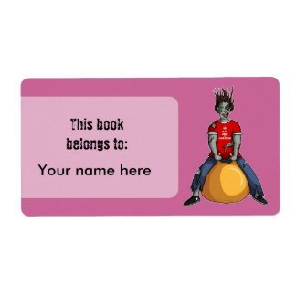 Despedir el zombi 1, bookplates o la etiqueta de etiquetas de envío