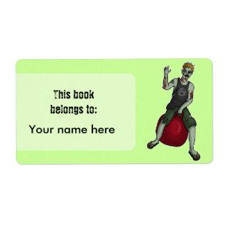 Despedir el zombi 3, bookplates o la etiqueta de etiquetas de envío