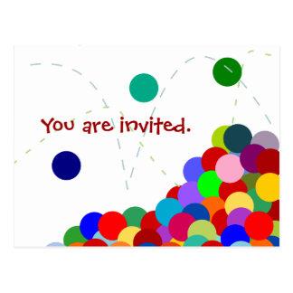 Despedir la postal de la invitación del fiesta