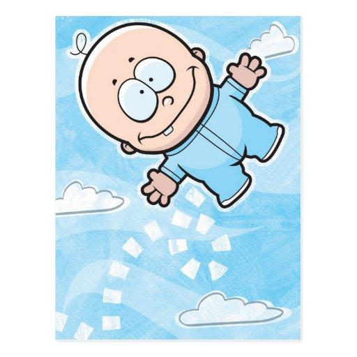 Despedir la postal del bebé