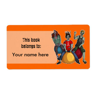 Despedir Zombies*, bookplates o la etiqueta de Etiqueta De Envío