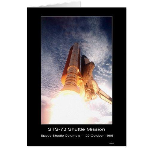 Despegue de Columbia del transbordador espacial -  Tarjeta De Felicitación