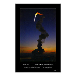 Despegue de la Atlántida del transbordador espacia Posters