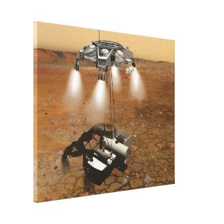 Despegue de la superficie marciana en arte impresiones en lienzo estiradas