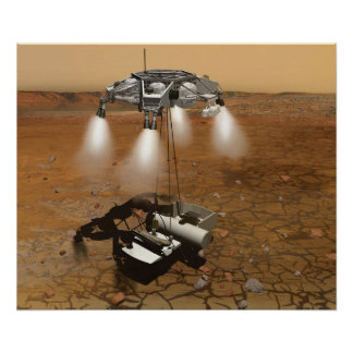 Despegue de la superficie marciana en arte póster