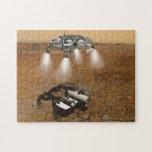 Despegue de la superficie marciana en arte puzzle