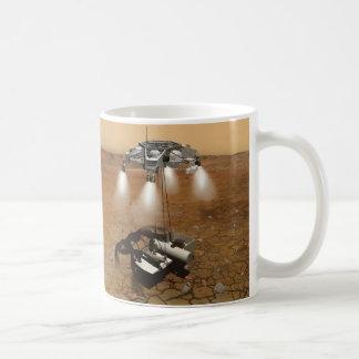 Despegue de la superficie marciana en arte taza clásica
