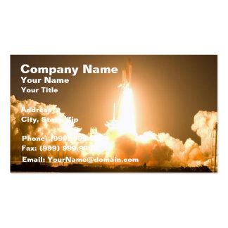 Despegue del transbordador espacial del descubrimi plantillas de tarjeta de negocio