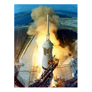 Despegue del vehículo de espacio de Apolo 11 Satur Postal