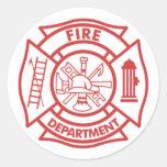 Despegue en tiempo mínimo del bombero pegatina