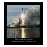 Despegue STS - 69 del esfuerzo del transbordador e Impresiones