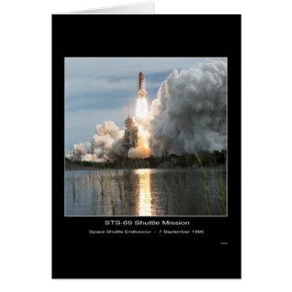Despegue STS-69 del esfuerzo del transbordador esp Felicitación