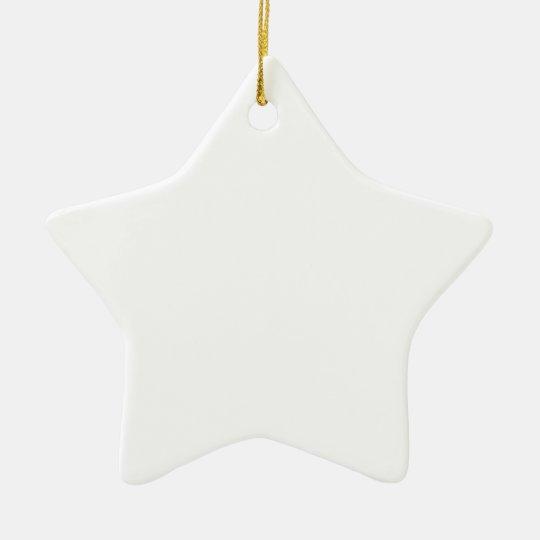 Despeje con todo los diseños con clase adorno navideño de cerámica en forma de estrella