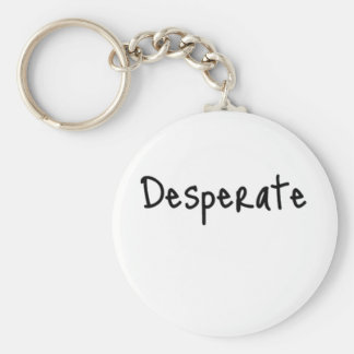 desperate basic round button keychain