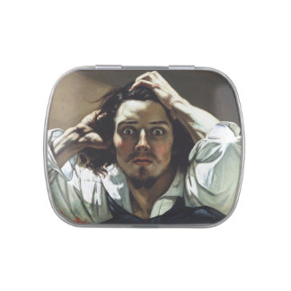 Desperate Man by Gustave Courbet Jelly Belly Tin