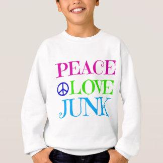 Desperdicios del amor de la paz sudadera