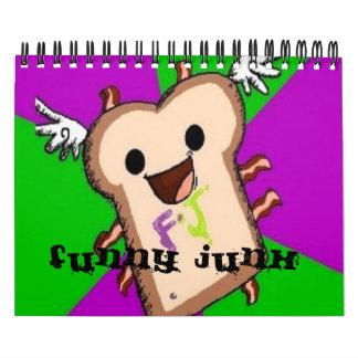 Desperdicios divertidos Calander Calendario