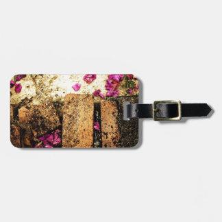 desperdicios marrones oxidados S de la antigüedad Etiquetas Maleta