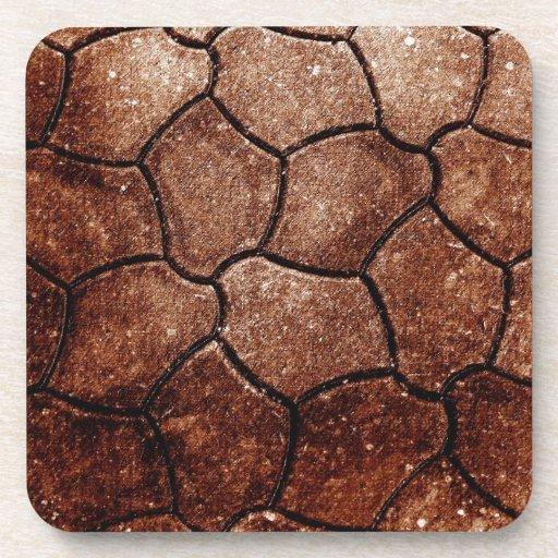 desperdicios marrones oxidados S de la antigüedad  Posavasos