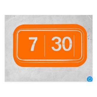 Despertador anaranjado tarjeta postal