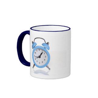 Despertador azul tazas