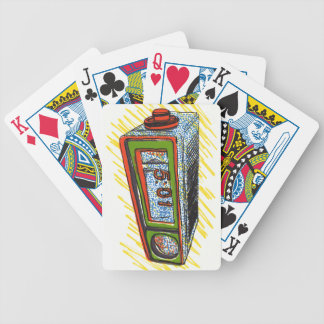 Despertador dibujado mano retra cartas de juego