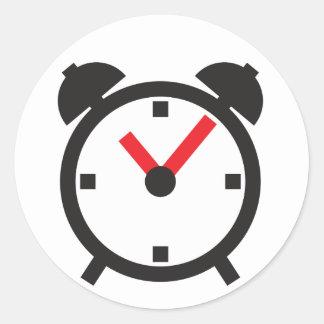 ⏰ - despertador pegatina redonda