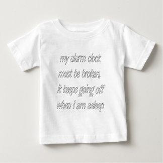 despertador playera de bebé