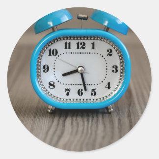 Despertador retro pegatina redonda