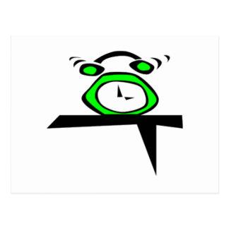 Despertador verde postal