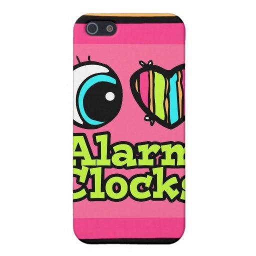 Despertadores brillantes del amor del corazón I de iPhone 5 Funda