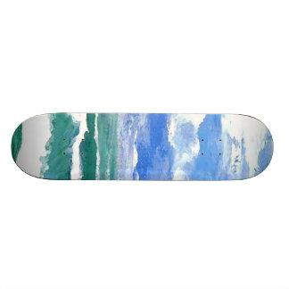 Despertar diseño de la cubierta del monopatín de l skateboard