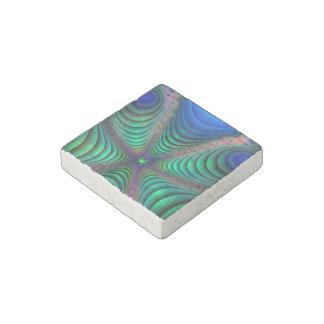 Despertar verde azul del arte de Absract del Imán De Piedra
