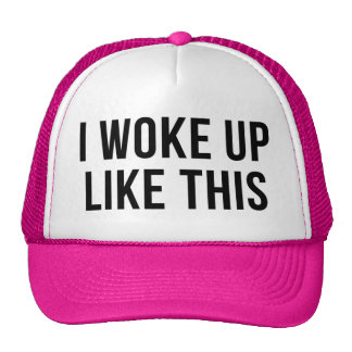 Desperté como esto gorros bordados