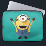 "Despicable Me | Minion Stuart Excited Computer Sleeve<br><div class=""desc"">Gru&#39;s loyal yellow,  gibberish-speaking Minions love causing mischief and mayhem almost as much as they love bananas. They are easily distracted and can be unpredictable,  curious and subversively sweet.</div>"