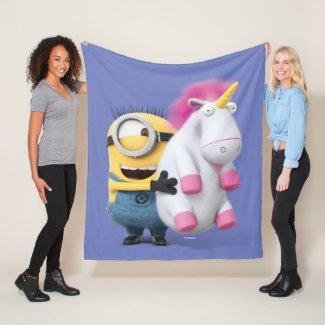 Despicable Me | Minion Stuart & Unicorn Fleece Blanket