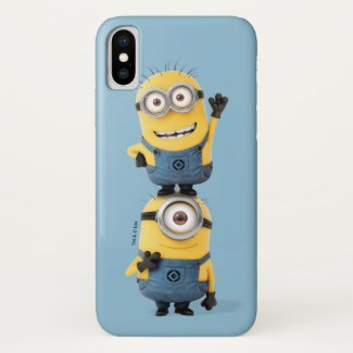 Despicable Me | Minions Carl & Tom Stacked Case-Mate iPhone Case