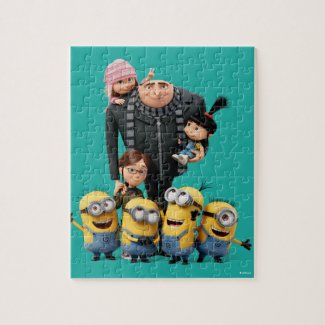 Despicable Me | Minions, Gru, Agnes, Margo & Edith Jigsaw Puzzle