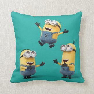 Despicable Me | Minions Jumping Throw Pillow
