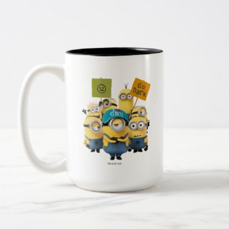 Despicable Me | Minions with Signs Two-Tone Coffee Mug