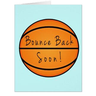 Despida detrás pronto el baloncesto tarjeta de felicitación grande